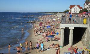центральный пляж в Зеленоградске фото