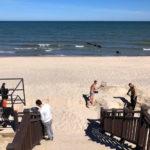 пляж Западный в Зеленоградске фото